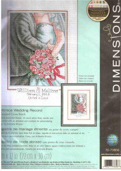 Embrace Wedding Record 70-73806 / Свадебная метрика Объятие