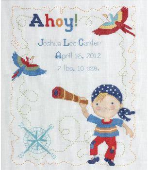 Ships Ahoy Birth Record 45597 / Детская метрика  На палубе корабля