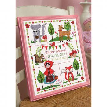 Little Red Riding Hood Birth Record 46301 / Детская метрика Маленькая красная шапочка