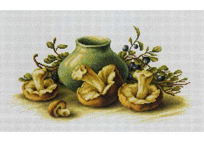 Натюрморт с грибами B2247