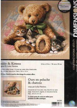Teddy and Kittens 35236 / Мишка и котята