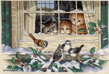 Three bird watchers 3839 / Трое наблюдателей за птицами