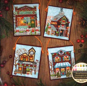 Winter Village Ornaments 70-08954 / Орнаменты Зимняя деревенька