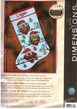 Holiday Hooties Stocking 70-08951 / Сапожок Рождественские совы