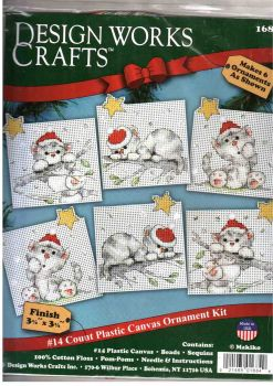 Christmas Cats Ornaments 1684 / Орнаменты Рождественские котята