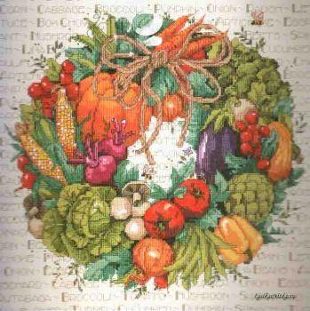 Vegetable Wreath 023-0312 / Овощной венок