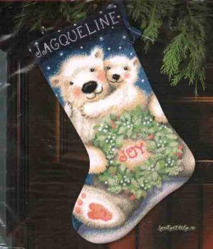 Polar Bear Joy Stocking 9140 / Сапожок Радость полярного медведя