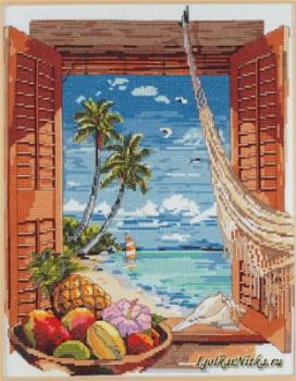 Tropical Vacation Window 023-0382 / Окно в тропические каникулы