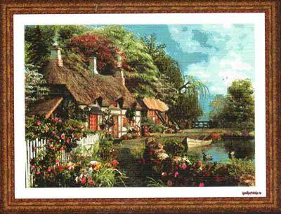 Riverside Home in Bloom 20887 / Цветение около реки
