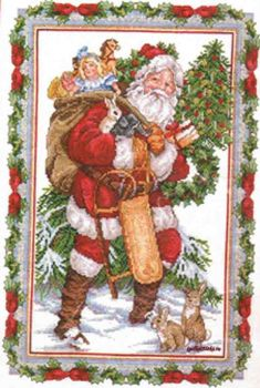 Glittery Snow Santa 125-196 / Блестящий снежный санта