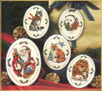 Santa's Wildlife Ornaments 8616 / Орнаменты дикой природы Санты