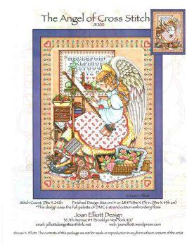 The Angel of Cross Stitch  JE200  / Ангел вышивки крестом (схема)