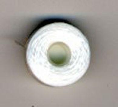 Нить для бисера (белая) на шпульке