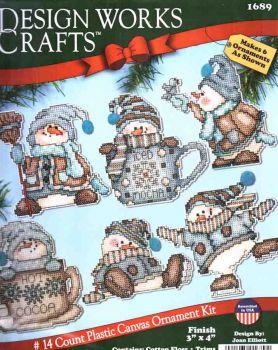Cocoa Snowmen Ornaments 1689 / Орнаменты Какао-Снеговики