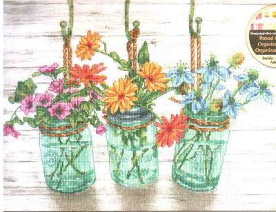 Flowering Jars 70-35378 / Баночки с цветами