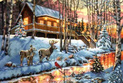 Winter Cabin 70-08976 / Зимний домик