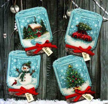 Vintage Jar Ornaments 70-08997 / Орнаменты Старинные украшения для баночек