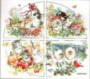 Four Seasons Kittens 35154 / Котята в четырех сезонах