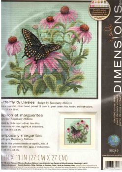 Butterfly & Daisies 35249 / Бабочки и маргаритки
