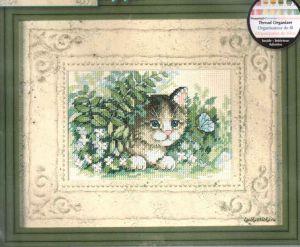 Kitten and Butterfly 6957 / Котёнок и Бабочка