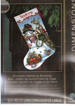 Snowman Gathering Stocking 70-08866 / Сапожок Совещание со Снеговиком
