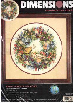 Berry Wreath Welcome 35028 / Добро Пожаловать На Венок Птички Берри
