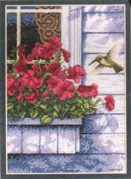 Flowers and Hummingbird 65037 / Цветы и Колибри