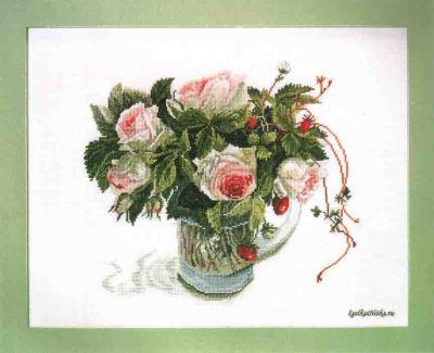 Розы и Земляника FU-605