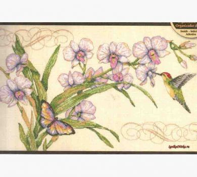 Orchids and Hummingbird 35237 / Орхидеи и Колибри