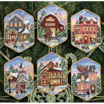 Christmas Village Ornaments 8785 / Орнаменты Рождественская Деревня