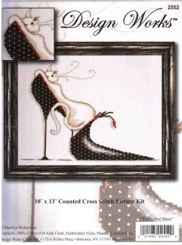 Polka Dot Shoe Kitty 2552 / Обувь в Горошек Китти