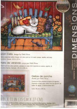 Porch Cats 20056 / Кошки на веранде