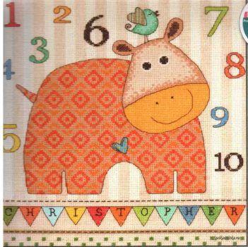 Baby Hippo 123  70-73989 / Детская Метрика Бегемотик 123