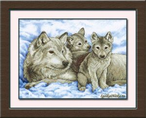 Mother Wolf and Pups 13130 / Волчица и Волчата
