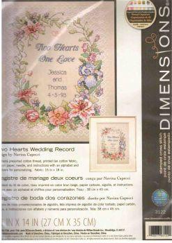 Two Hearts Wedding Record 3122 / Свадебная метрика Два сердца