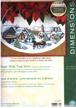 Sleigh Ride Tree Skirt 70-08830 / Юбка под елку Катание на санях