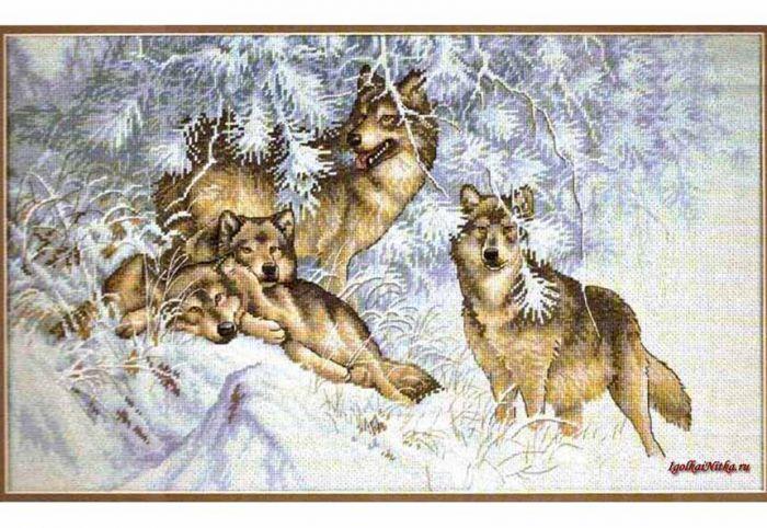 Зимние волки скачать схему