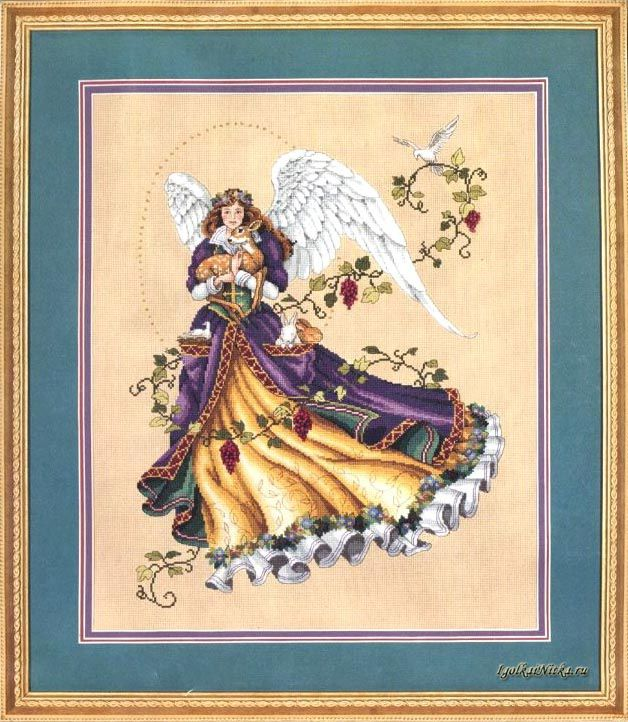 Вышивка крестом ангел нитекс 16