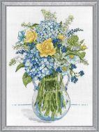 Blue and Yellow Floral 2866 / Голубые и желтые цветы