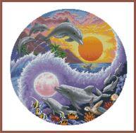Sun and Moon Dolphins 35140 / Солнечный и лунный дельфины