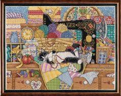 Kitty Sewing Lesson 2863 / Уроки шитья от кошки
