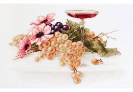 Цветы и виноград B214