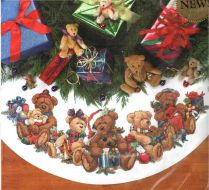 Christmas Bears Tree Skirt 8693 / Юбочка Рождественские мишки