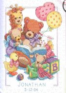 Teddy and Friends Record 72916 / Детская метрика Тедди и друзья