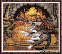 All Burned Out Cats 20007 / Коты у камина (США)