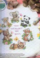 Baby Animals Quilt 73064 / Детское одеяло Зверюшки