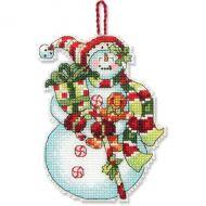 Snowman with Sweets Ornament 70-08915 / Орнамент Снеговик с конфетами