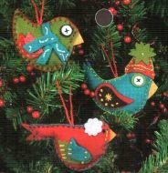 Whimsical Bird Ornaments 72-08170 / Орнаменты Причудливые птички