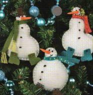 Simple Snowmen Ornaments 72-08171 / Орнаменты Простые снеговики