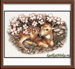 Fawn and Blossoms 35243 / Оленёнок и цветы